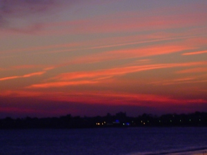 The sunsets on Long Island are just unbelievable.
